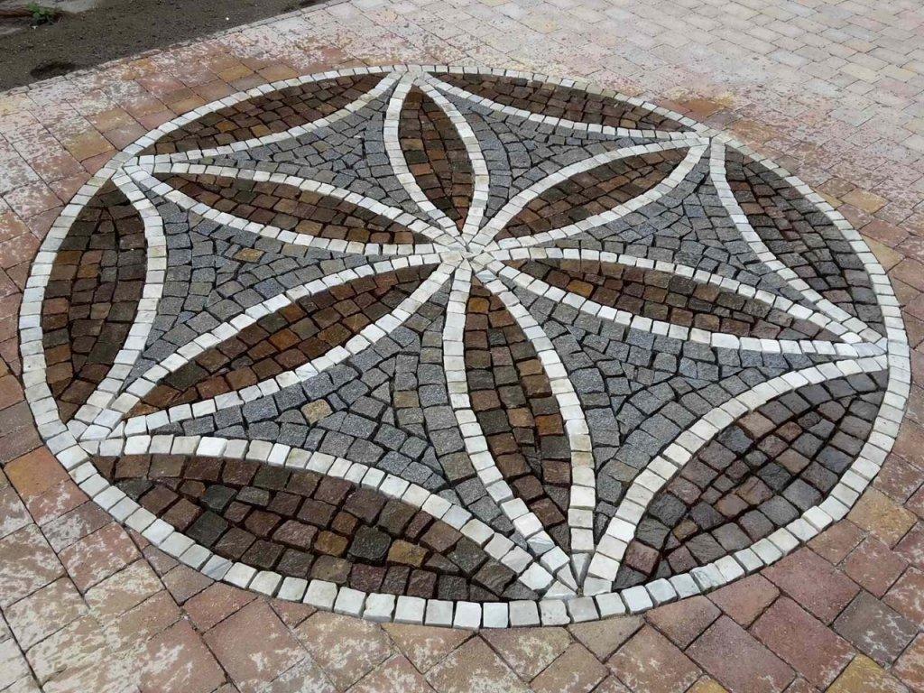 Mosaik Pflasterung