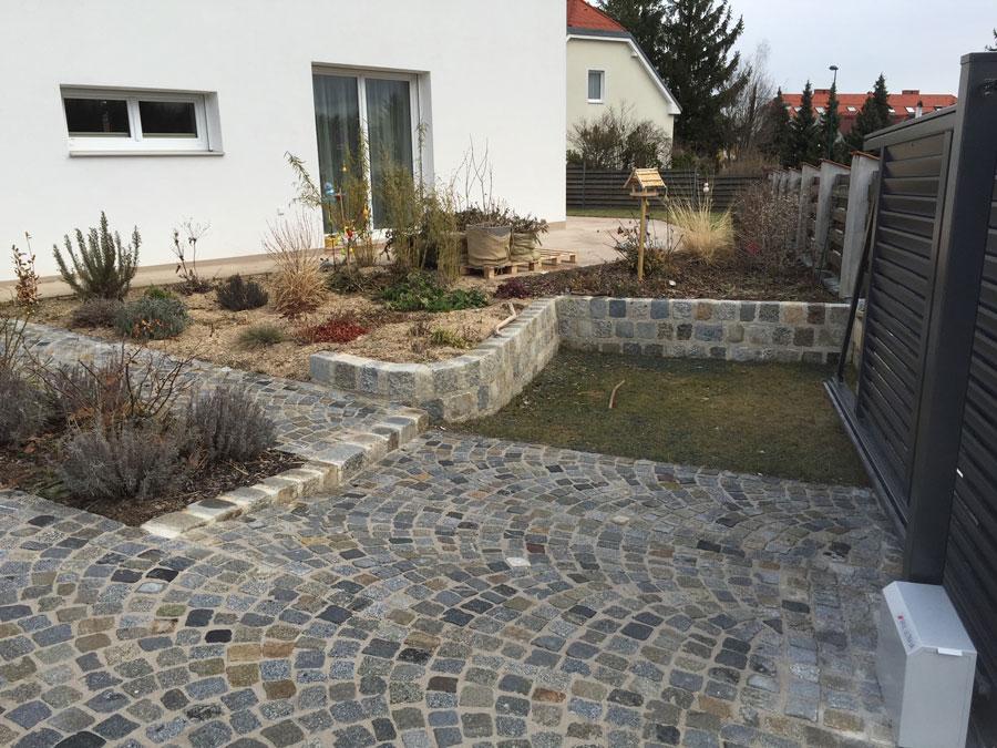 Pflasterung Vorgarten Mit Pflastersteinen